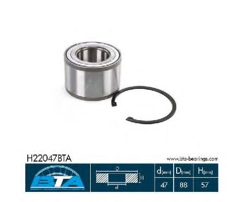 Купить Комплект ступицы колеса, BTA H22047BTA