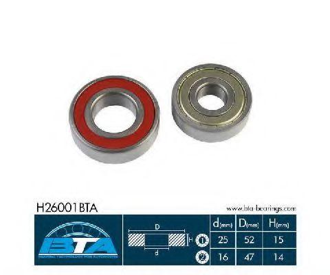 Купить Комплект ступицы колеса, BTA H26001BTA