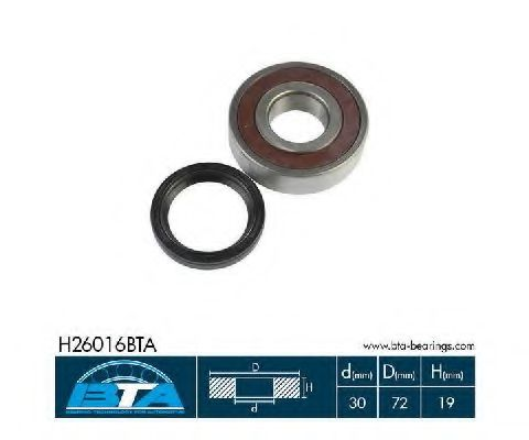 Купить Комплект ступицы колеса, BTA H26016BTA