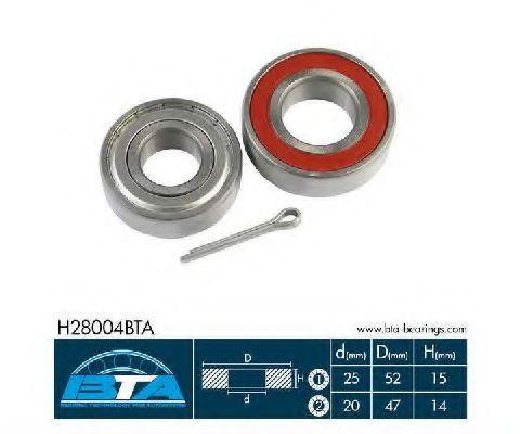 Комплект ступицы колеса, BTA H28004BTA  - купить со скидкой