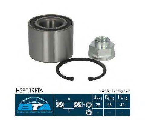 Купить Подшипник ступицы колеса, BTA H28019BTA