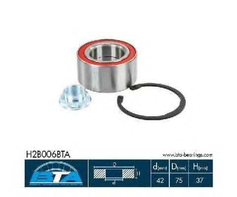 Комплект ступицы колеса, BTA H2B006BTA  - купить со скидкой