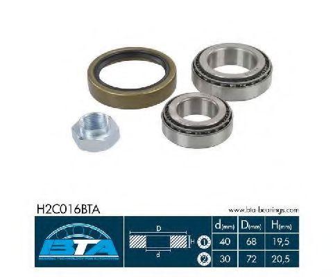 Купить Комплект ступицы колеса, BTA H2C016BTA