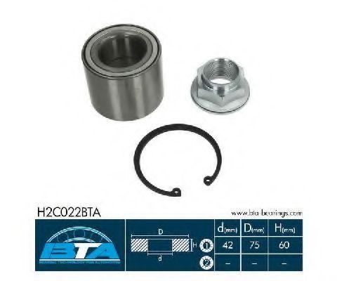 Купить Комплект ступицы колеса, BTA H2C022BTA