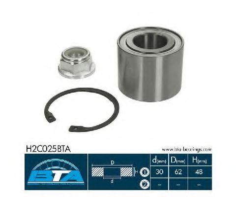 Купить Комплект ступицы колеса, BTA H2C025BTA